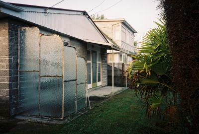 A backyard somewhere in Christchurch, New Zealand